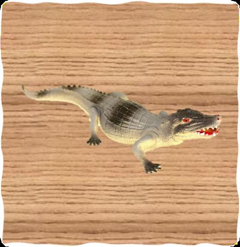 Ravensden 45cm Plastic Alligator