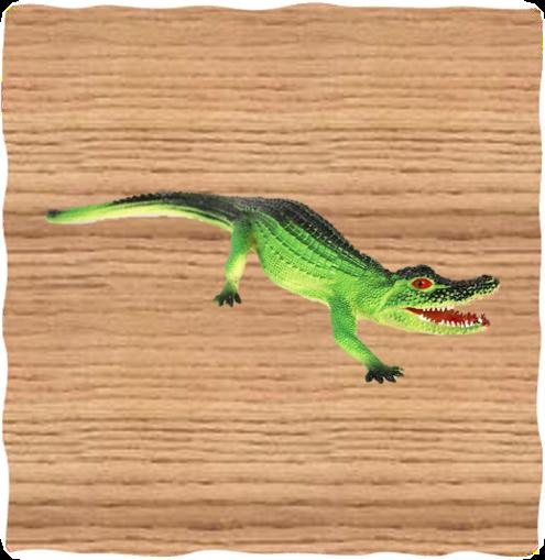 Ravensden 45cm Plastic Crocodile