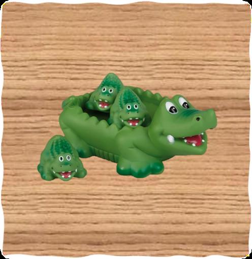 Deluxe Base Crocodile Bath Set