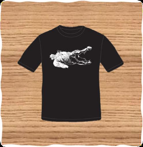 Kids Black Croc T-Shirt