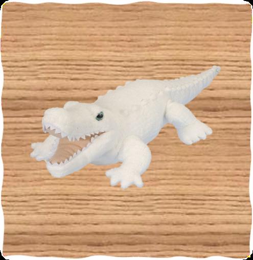 Wild Republic 38cm White Alligator