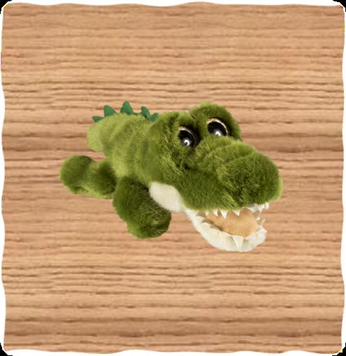 Petjes 20cm Glitter Eyes Crocodile