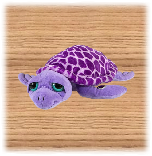 Petjes 35cm Purple Turtle