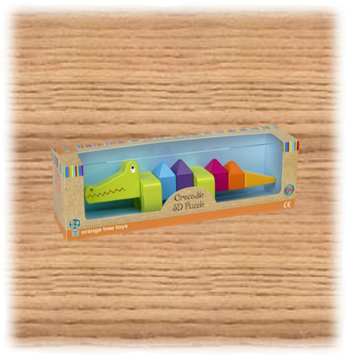 3D Crocodile Puzzle