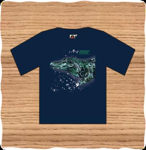 Adult Navy Black Caiman T-Shirt