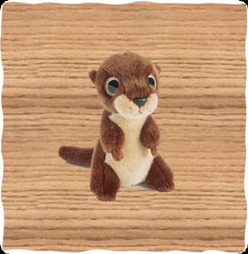 Petjes 20cm Glitter Eyes Standing Otter