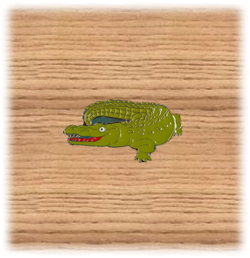 Metal Crocodile Magnet