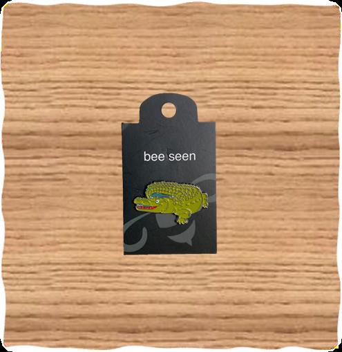 Nature Planet Crocodile Pin Badge