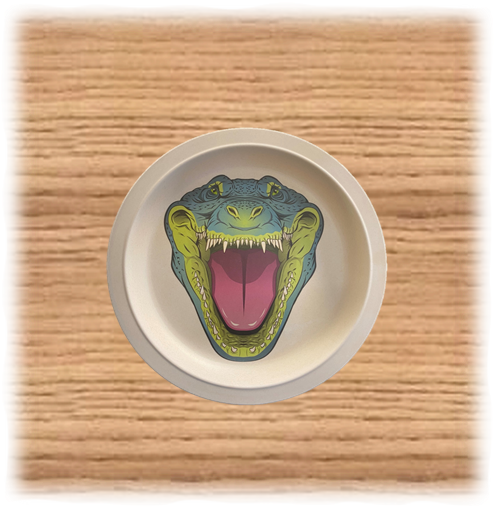 Nature Planet Crocodile Plate