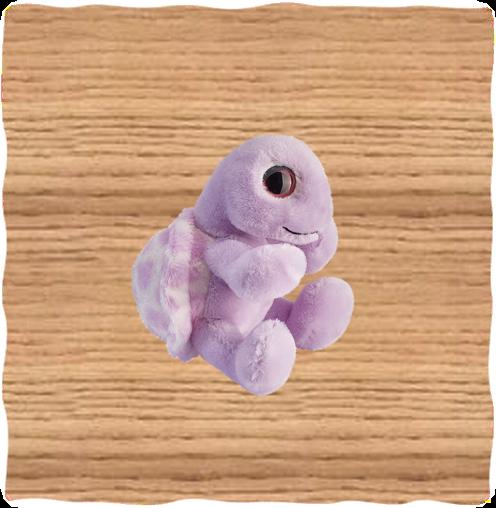Petjes 14cm Colourzoo Purple Turtle