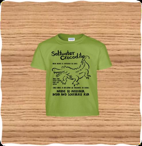 Kids Green Saltwater T-Shirt