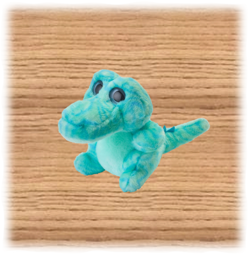 Petjes 14cm Colourzoo Crocodile