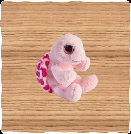 Petjes 14cm ColourZoo Pink Turtle