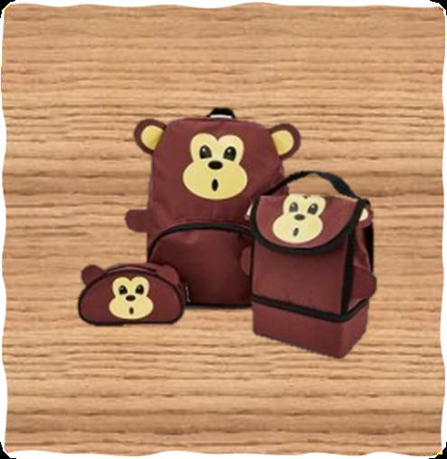 Kids Monkey Bag Set