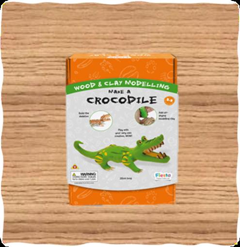 Crocodile Wood & Clay Modelling Kit