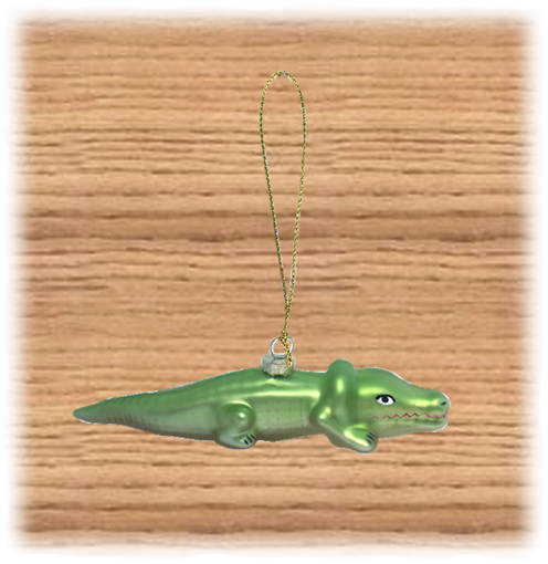 Crocodile Christmas Tree Ornament