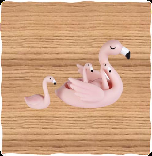Flamingo Bath Set