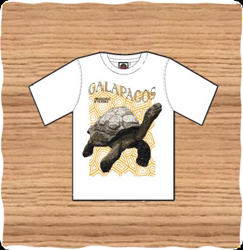 Kids White Galapagos Tortoise T-Shirt