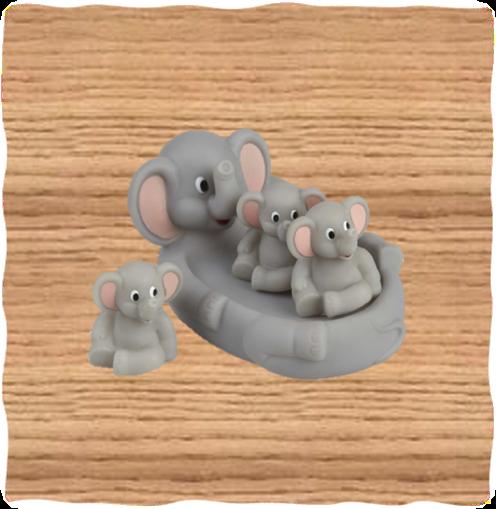 Grey Elephant Bath Set