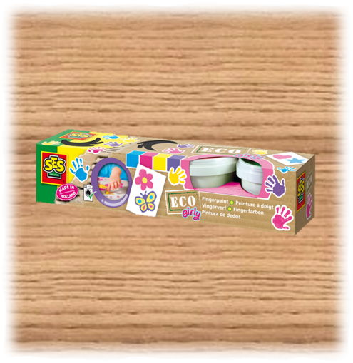 SES Creative Girly Eco Finger Paint