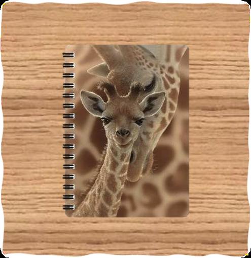 Deluxe Base 3D Giraffe A5 Notebook