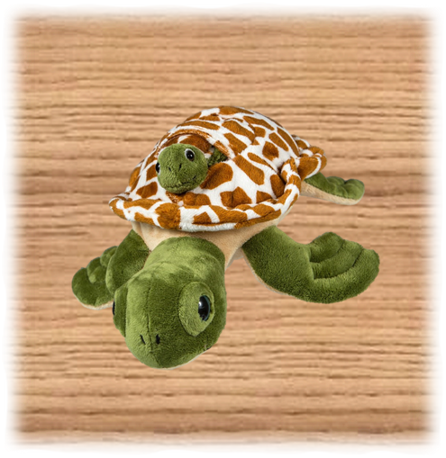Petjes 32cm Green Turtle and Baby