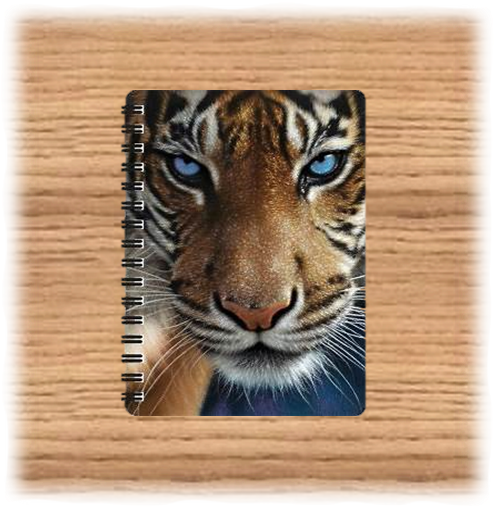 Deluxe Base 3D Tiger A5 Notebook